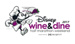 Wine and Dine Logo Mickey dressed as a waiter running and holding food