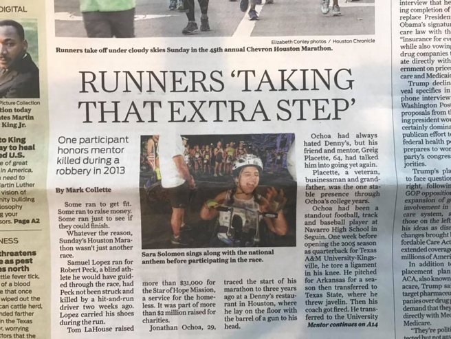 Sara Solomon on the cover of the ?Houston Chronicle
