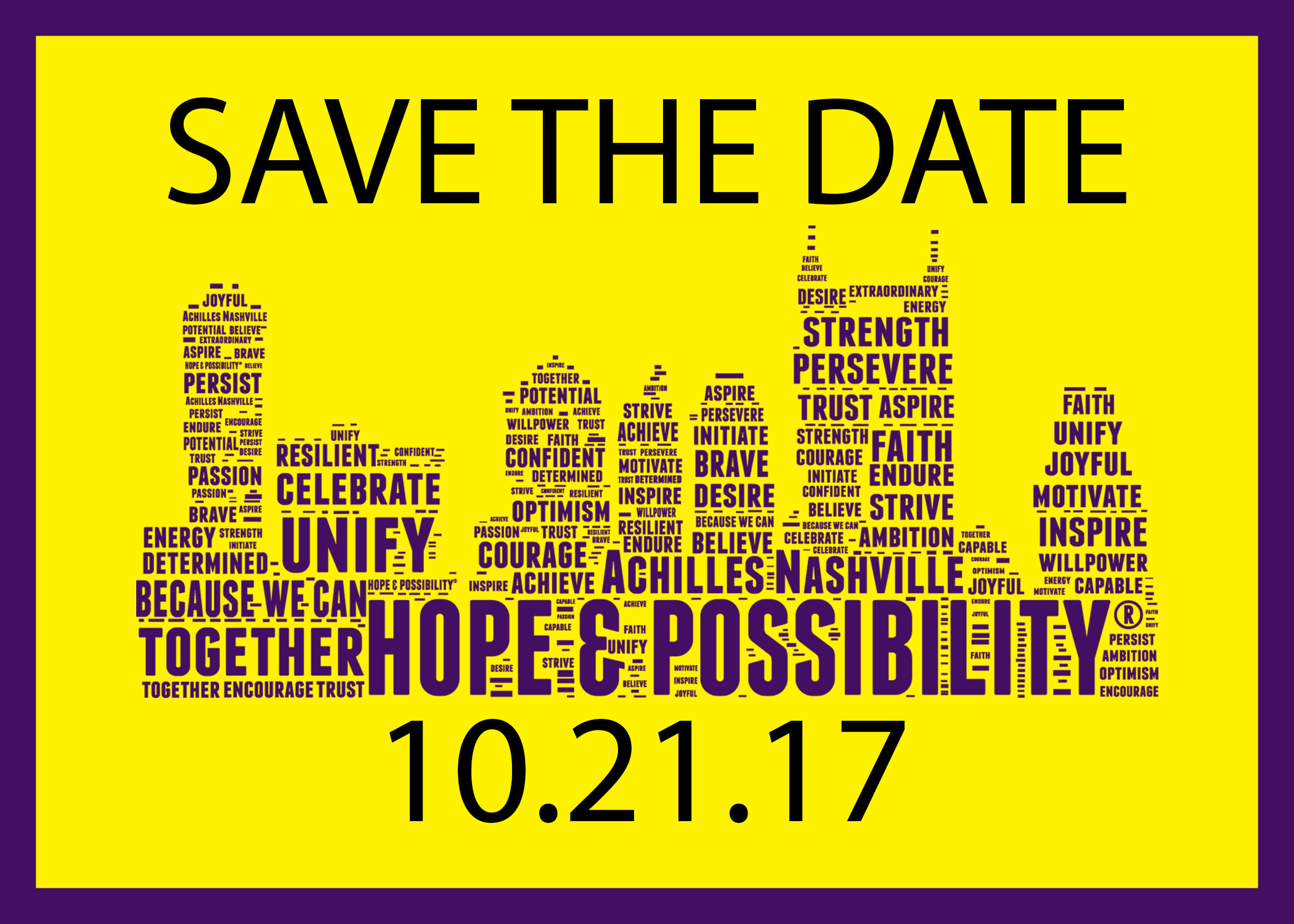 Save the Date October 21,2017